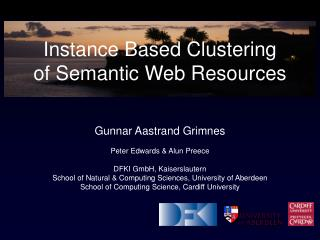 Instance Based Clustering of Semantic Web Resources