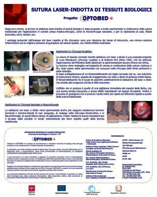 SUTURA LASER-INDOTTA DI TESSUTI BIOLOGICI