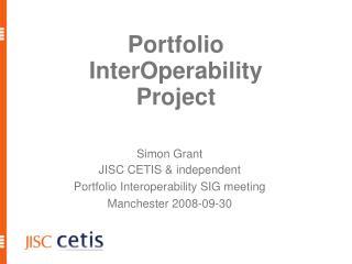 Portfolio  InterOperability  Project