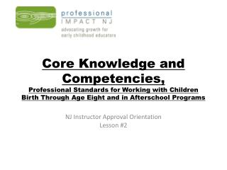 NJ Instructor Approval Orientation Lesson #2