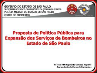 GOVERNO DO ESTADO DE SÃO PAULO SECRETARIA DE ESTADO DOS NEGÓCIOS DA SEGURANÇA PÚBLICA