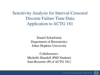 Sensitivity Analysis for Interval-Censored  Discrete Failure Time Data: Application to ACTG 181