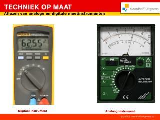 Aflezen van analoge en digitale meetinstrumenten