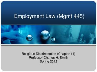 Employment Law (Mgmt 445)