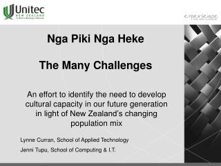 Nga Piki Nga Heke  The Many Challenges