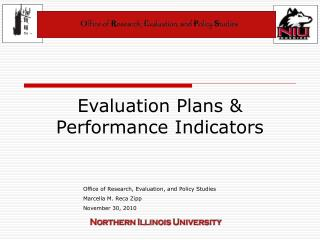 Evaluation Plans & Performance Indicators