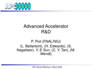 Advanced Accelerator  R&D
