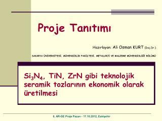 Hazırlayan:  Ali Osman KURT ( Doç.Dr. )