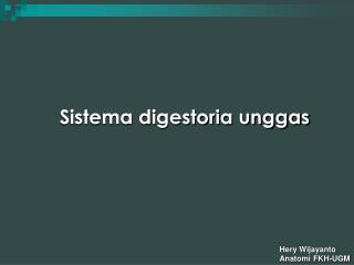 Sistema digestoria unggas
