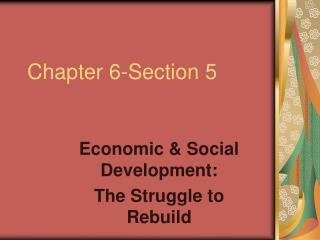Chapter 6-Section 5