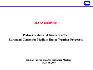 MARS archiving