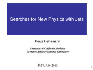 Searches for New Physics with Jets