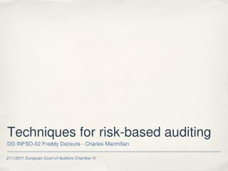 Techniques for risk-based auditing