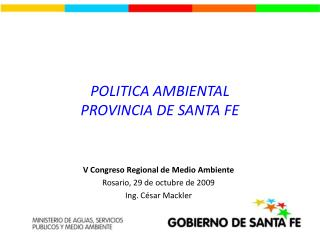 POLITICA AMBIENTAL PROVINCIA DE SANTA FE
