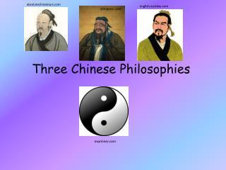 Three Chinese Philosophies