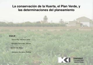 La conservación de la Huerta, el Plan Verde, y las determinaciones del planeamiento