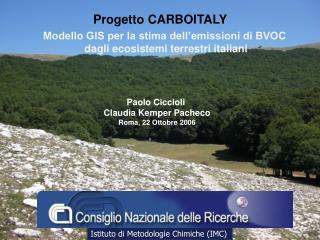 Paolo Ciccioli  Claudia Kemper Pacheco Roma, 22 Ottobre 2006