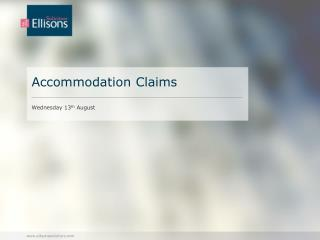 Accommodation Claims