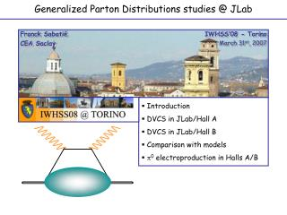 Generalized Parton Distributions studies @ JLab