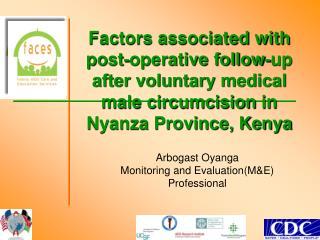 Arbogast Oyanga Monitoring and Evaluation(M&E) Professional