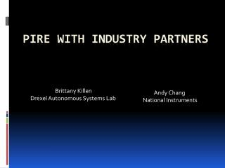 PIRE with Industry Partners