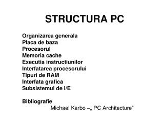STRUCTURA PC