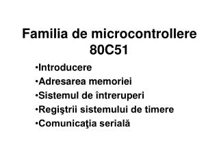 Familia de microcontrollere 80C51