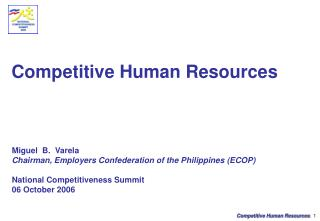 Competitive Human Resources