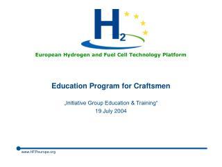 Education Program for Craftsmen