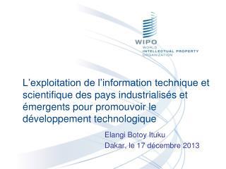 Elangi Botoy Ituku Dakar, le 17 décembre 2013