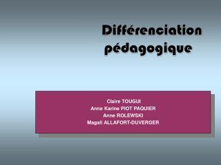 Diff�renciation p�dagogique