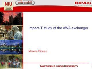 Impact-T study of the AWA exchanger