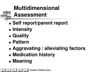 Multidimensional Assessment