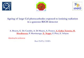 Ageing of large CsI photocathodes exposed to ionizing radiation in a gaseous RICH detector