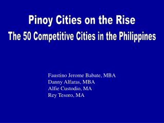 Pinoy Cities on the Rise