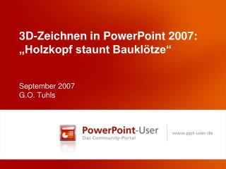 3D-Zeichnen in PowerPoint 2007:  Holzkopf staunt Baukl tze