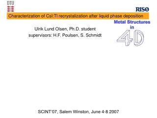 Characterization of CsI:Tl recrystalization after liquid phase deposition