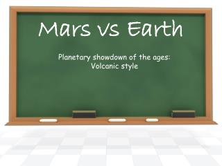 Mars vs Earth