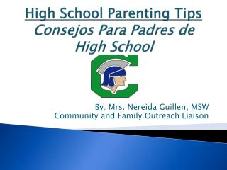 High School Parenting Tips Consejos  Para Padres de High School