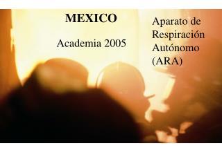 Aparato de Respiraci�n Aut�nomo (ARA)