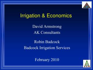 Irrigation & Economics