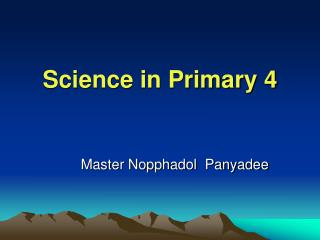 Science in Primary 4