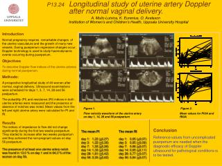 P13.24    Longitudinal study of uterine artery Doppler 			after normal vaginal delivery.