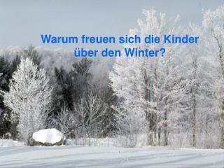 Warum freuen sich die Kinder  ü ber den Winter?