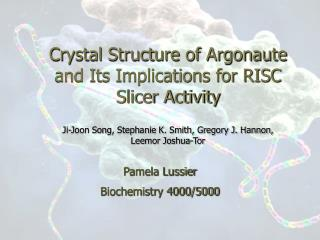 Crystal Structure of Argonaute and Its Implications for RISC Slicer Activity