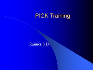 PICK Training
