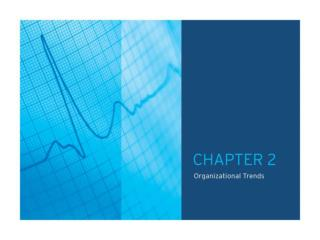 TABLE OF CONTENTS CHAPTER 2.0: Organizational Trends