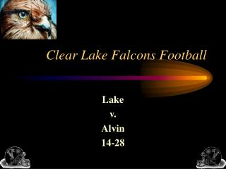 Clear Lake Falcons Football