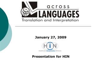 Presentation for HIN