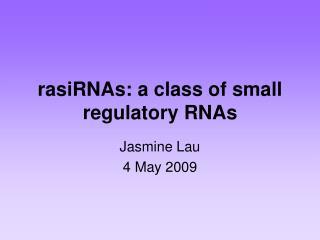 rasiRNAs: a class of small regulatory RNAs